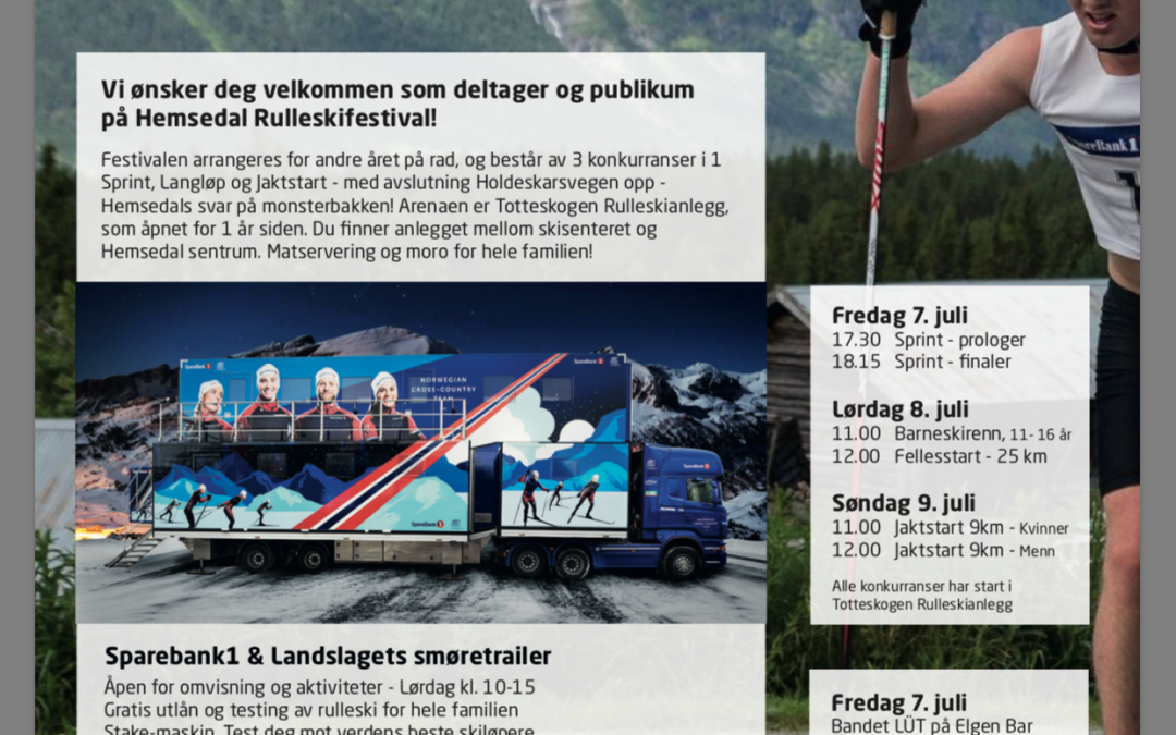 Flyer og annonse for Hemsedal Rulleskifestival