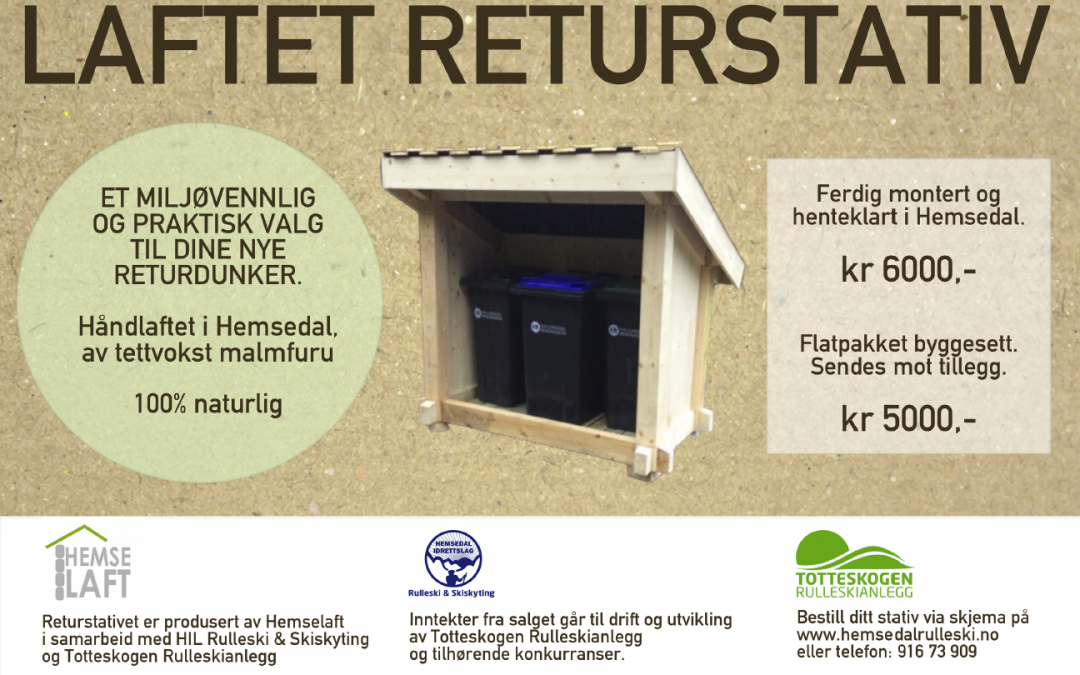 RETURSTATIV fra Hemselaft & HIL